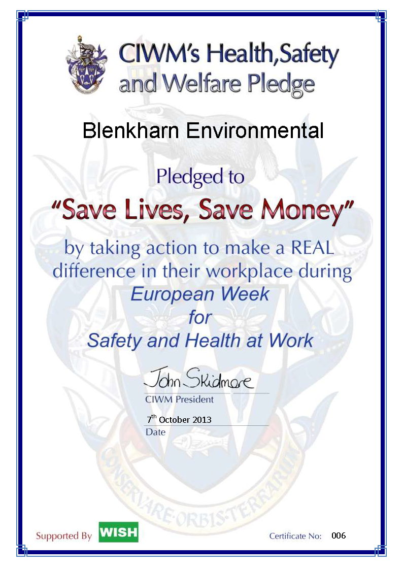 blenkharn env cert